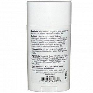 Now Foods, Solutions, дезодорант-карандаш длительного действия, освежающая лаванда, 62 г (2,2 унции)