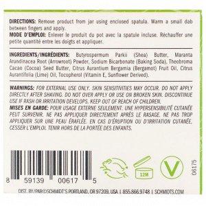 Schmidt&#x27 - s, Натуральный дезодорант в баночке, бергамот и лайм, 56,7 г (2 унции)