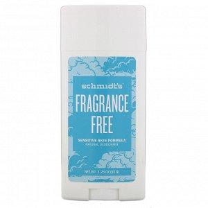 Schmidt&#x27 - s, Натуральный дезодорант, для чувствительной кожи, без отдушек, 92 г (3,25 унции)