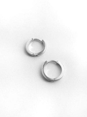 """Серебряные серьги-кольца """"Base"""", 15 мм, дешевле, чем в СП"""