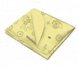 Клеенка INSEENSE подкладная с ПВХ покрытием (без тесьмы) размер 0,7 х 1м (желтый с рисунком) Ins071k