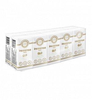 Блок из 10 пачек, Платочки Inseense бумажные 3 слоя 10шт аромат лесных ягод Ins10ly (24)