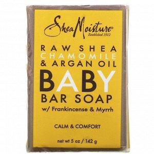 SheaMoisture, Детское кусковое мыло против экземы, необработанное масло ши, ромашка и аргановое масло, 141 г (5 унций)