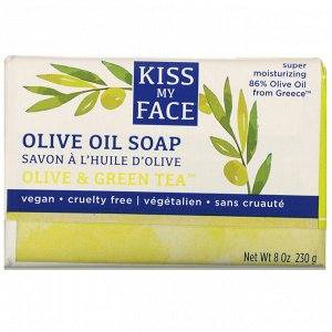 Kiss My Face, Olive Oil Soap, Olive & Green Tea, 8 oz (230 g)