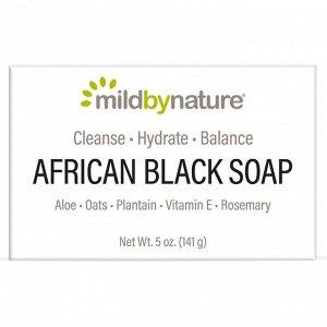 Mild By Nature, Африканское черное мыло, с овсом и подорожником, 141 г (5 унций)