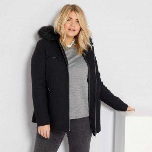 Пальто с капюшоном - черный