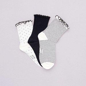 Комплект из 3 пар носков - белый