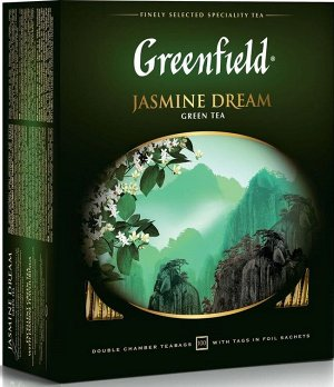 Чай Greenfield Jasmine Dream (Жасмин Дрим) зеленый, 100 пакетиков