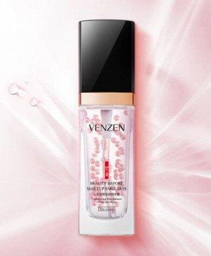 База эмульсия для макияжа Venzen Beauty Emulsion Anti-Whinkle жемчужное сияние против морщин