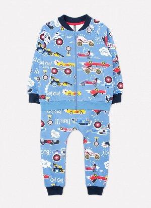 Комплект для мальчика Crockid КР 2695 дымчато-синий, ралли к254