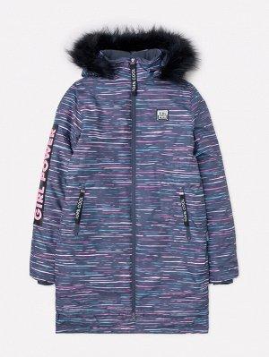 Пальто зимнее для девочки ВКБ 38048/н/1 ГР