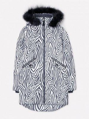 Пальто зимнее для девочки ВКБ 38052/н/1 ГР