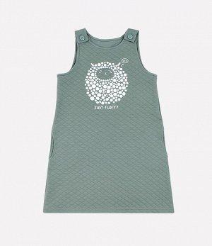 Сарафан для девочки Crockid К 5643 серо-зеленый