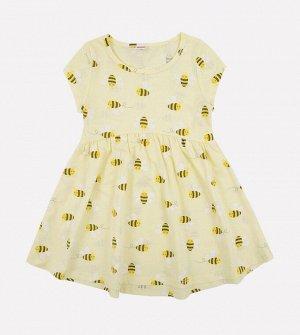 Платье для девочки Crockid К 5668 светло-желтый, веселые пчелки