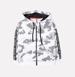 Куртка для мальчика Crockid КР 301044 светло-серый меланж, камуфляж к256