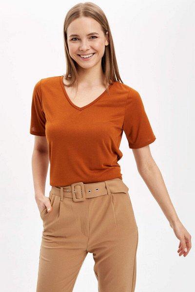 DEFACTO - 💃🏻толстовки, свитеры,джемпер, рубашки, футболки🕺🏻 — Базовые женские футболки. — Футболки и поло