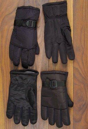 Перчатки мужские плащевые, пряжка