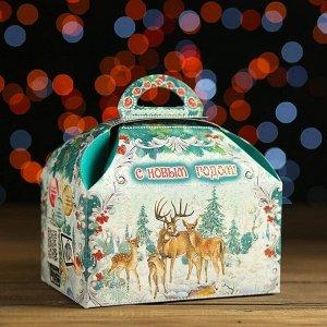 Новогодний подарок «Ларец праздничный», картонная упаковка, 900 г