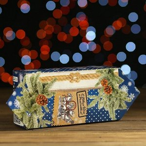 """Новогодний подарок """"Тройка, С Рождеством и Новым Годом"""" картонная упаковка, 500 г"""