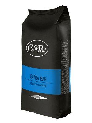 Caffe Poli Extra Bar 1000гр 1/10 зерно (син)