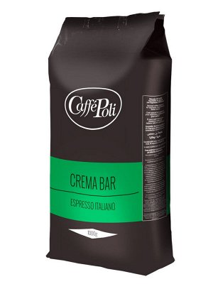 Caffe Poli Crema Bar 1000гр 1/10 зерно (зелен)