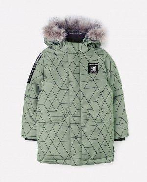 Куртка удлиненная зимняя для мальчика Crockid ВК 36055/н/1 УЗ