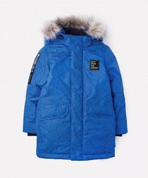 Куртка удлиненная зимняя для мальчика Crockid ВК 36055/н/2 УЗ