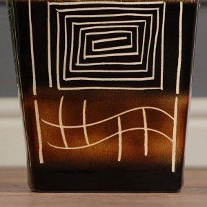 """Ваза напольная """"Лира"""". абстракции. 70 см. микс. керамика"""
