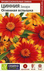 Цветы Цинния Захара Огненная вспышка/Сем Алт/цп 6 шт. НОВИНКА