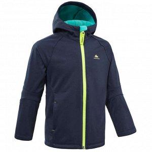 Куртка софтшелл для походов для детей 2-6 лет темно-синяя MH550 QUECHUA