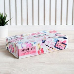 Салфетки бумажные в коробке Make up, 100 шт.
