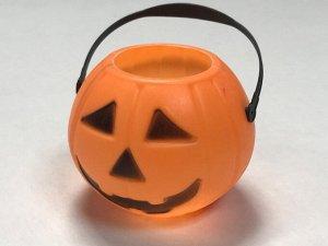 Ведерко-тыква с ручкой для хэллоуина, 7*7*5 см