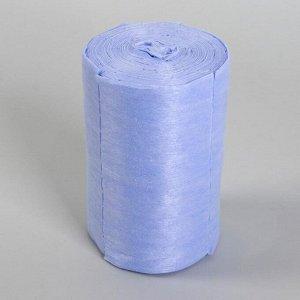 Набор одноразовых воротничков, без липкого слоя, 8 ? 40 см, 100 шт в рулоне, цвет голубой