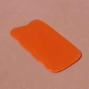 Массажёр гуаша «Волна», 9,5 ? 5,5 см, цвет оранжевый