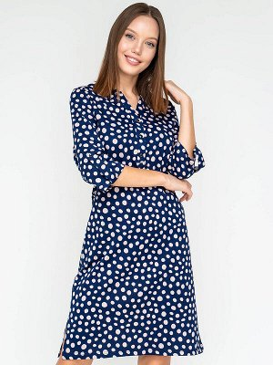 Платье Состав: Хлопок 95%, Лайкра 5%; Цвет: Синий; Страна: РоссияТунику можно носить соло, в качестве короткого платья. Вещь, что называется для жизни, в которой Вы будете чувствовать себя абсолютно р