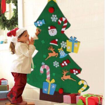 💫Новый 2021 год! Много подарков и декора!💫   — Елочка из фетра (наряжаем к празднику) — Все для Нового года