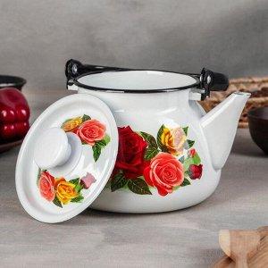 Набор посуды «Розовый рай», 4 шт: кастрюли 2 л, 3 л, 4 л, чайник 3 л