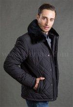 Демисезонная мужская утепленная стеганая куртка Hermzi, цвет Черный