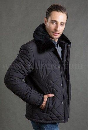Демисезонная мужская утепленная стеганая куртка Hermzi, цвет Black Черный