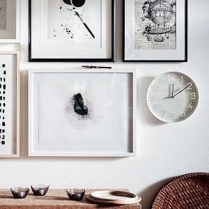 ТРОММА Настенные часы, белый25 см