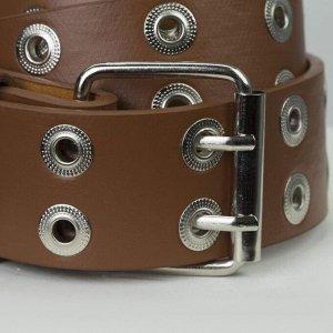 Ремень женский, ширина - 3,6 см, пряжка металл, цвет коричневый