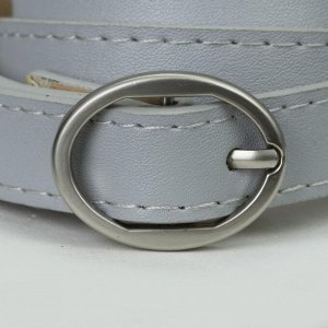 Ремень женский, ширина - 1,8 см, пряжка металл, цвет серый