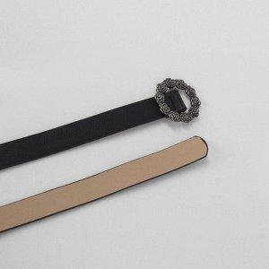 Ремень женский, ширина - 2 см, пряжка металл, цвет чёрный