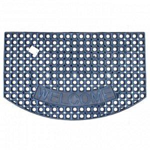 Резиновый придверный коврик / 60 x 90 см