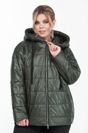 Куртка Куртка Pretty 1308 изумруд  Состав: ПЭ-100%; Сезон: Осень-Зима Рост: 164  Укороченная дутая куртка на синтепоне. Длина до линии бедер. Выполнена из плащевой ткани. Застежка центральная на тесь