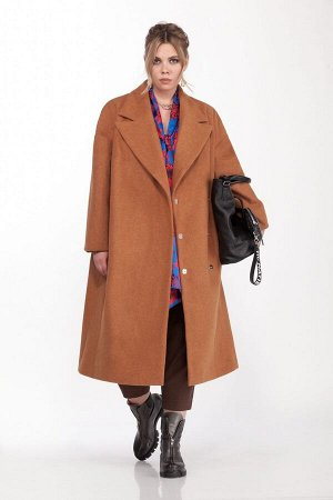 Пальто Пальто Pretty 1310 камел  Состав: ПЭ-40%; Шерсть-60%; Сезон: Осень-Зима Рост: 164  Женское пальто прямого силуэта. Выполненное из пальтовой ткани. Застежка центральная двубортная на потайные к