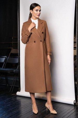 Пальто Пальто ЮРС 20-432/3  Состав ткани: ПЭ-75%; Шерсть-5%; Акрил-20%;  Рост: 164 см.  Пальто представляет собой синтез классического фасона и современного стиля кэжуал. Модель прекрасно сочетается