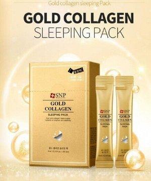 Ночная маска на основе золота и коллагена  Gold Collagen Sleeping Pack
