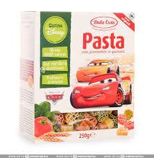 """Макаронные изделия Disney Фигурные со шпинатом и томатами """"Тачки"""" (0,250 кг)"""