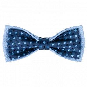 Бабочка Цвет синий. Состав хлопок 100%. Длина, см 12. Ширина, см 6. Фактура узор